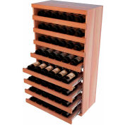 Bulk Storage, Pull Out Wine Bottle Cradle, 8-Drawer 3 Ft high - Walnut, All-Heart Redwood