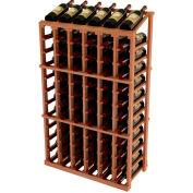 Vintner Commercial 6 Column Merchandiser W/Individual Bottle Rails - All-Heart Redwood, Light