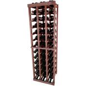 Individual Bottle Wine Rack - 3 Columns, 4 ft high - Light, All-Heart Redwood