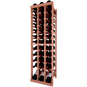 Individual Bottle Wine Rack - 3 Column W/Lower Display, 4 ft high - Light, All-Heart Redwood