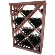 Diamond Bin Wine Rack - 4 ft high - Light, All-Heart Redwood