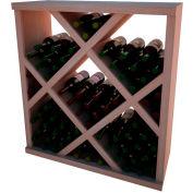 Diamond Bin Wine Rack w/Face Trim - 4 ft high - Black, All-Heart Redwood