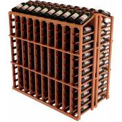 Vintner Commercial Island W/Individual Bottle Rails - All-Heart Redwood, Black