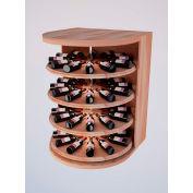 Bulk Storage, Rotating Wine Bottle Cradle, 4-Level 4 Ft high - Black, All-Heart Redwood
