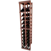 Individual Bottle Wine Rack - 2 Column W/Top Display, 4 ft high - Unstained All-Heart Redwood