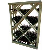 Diamond Bin Wine Rack - 4 ft high - Mahogany, Pine