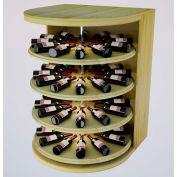 Bulk Storage, Rotating Wine Bottle Cradle, 4-Level 4 Ft high - Walnut, Pine