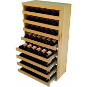 Bulk Storage, Pull Out Wine Bottle Cradle, 8-Drawer 3 Ft high - Light, Pine