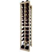 Individual Bottle Wine Rack - 2 Column W/Lower Display, 4 ft high - Black, Pine