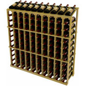 Vintner Commercial 10 Column Merchandiser W/Individual Bottle Rails - Pine, Black
