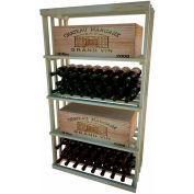 Bulk Storage, Wine Bottle Shelf, 4-Shelf, 4 Ft high - Unstained Pine