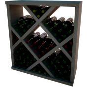 Diamond Bin Wine Rack w/Face Trim - 4 ft high - Mahogany, Mahogany