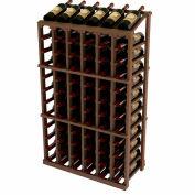 Vintner Commercial 6 Column Merchandiser W/Individual Bottle Rails -  Mahogany, Walnut