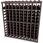 Individual Bottle Wine Rack - 10 Column W/Top Display, 4 ft high - Walnut, Mahogany