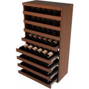 Bulk Storage, Pull Out Wine Bottle Cradle, 8-Drawer 3 Ft high - Walnut, Mahogany