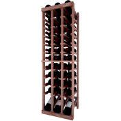 Individual Bottle Wine Rack - 3 Column W/Lower Display, 4 ft high - Light, Mahogany