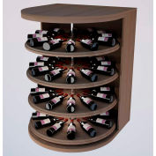 Bulk Storage, Rotating Wine Bottle Cradle, 4-Level 4 Ft high - Light, Mahogany