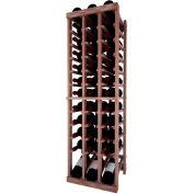Individual Bottle Wine Rack - 3 Column W/Lower Display, 4 ft high - Black, Mahogany