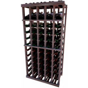 Individual Bottle Wine Rack - 5 Column W/Top Display, 4 ft high - Black, Mahogany