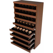 Bulk Storage, Pull Out Wine Bottle Cradle, 8-Drawer 3 Ft high - Unstained Mahogany