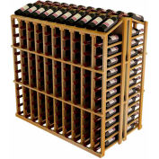 Vintner Commercial Island W/Individual Bottle Rails -  Redwood, Walnut