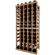 Individual Bottle Wine Rack - 5 Column W/Lower Display, 4 ft high - Black, Redwood