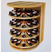 Bulk Storage, Rotating Wine Bottle Cradle, 4-Level 4 Ft high - Black, Redwood