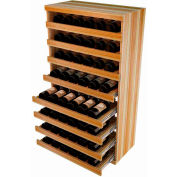 Bulk Storage, Pull Out Wine Bottle Cradle, 8-Drawer 3 Ft high - Unstained Redwood