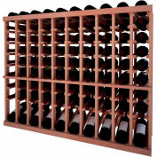 Individual Bottle Wine Rack - 10 Column W/Lower Display, 3 ft high - Mahogany, All-Heart Redwood