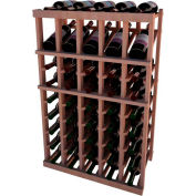 Individual Bottle Wine Rack - 5 Column W/Top Display, 3 ft high - Mahogany, All-Heart Redwood