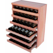 Bulk Storage, Pull Out Wine Bottle Cradle, 6-Drawer 3 Ft high - Mahogany, All-Heart Redwood