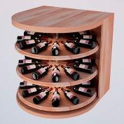 Bulk Storage, Rotating Wine Bottle Cradle, 3-Level 3 Ft high - Mahogany, All-Heart Redwood