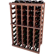 Individual Bottle Wine Rack - 5 Columns, 3 ft high - Walnut, All-Heart Redwood