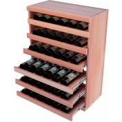 Bulk Storage, Pull Out Wine Bottle Cradle, 6-Drawer 3 Ft high - Walnut, All-Heart Redwood