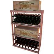 Bulk Storage, Wine Bottle Shelf, 3-Shelf, 3 Ft high - Light, All-Heart Redwood