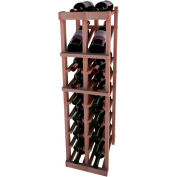 Individual Bottle Wine Rack - 2 Column W/Top Display, 3 ft high - Black, All-Heart Redwood
