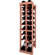 Individual Bottle Wine Rack - 2 Column W/Lower Display, 3 ft high - Black, All-Heart Redwood