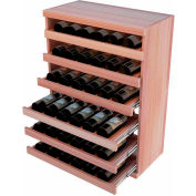 Bulk Storage, Pull Out Wine Bottle Cradle, 6-Drawer 3 Ft high - Black, All-Heart Redwood