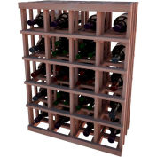 Individual Bottle Wine Rack - Magnum Bottle, 3 ft high - Unstained All-Heart Redwood