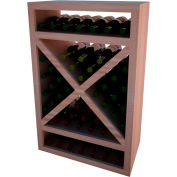 Diamond Solid Cube Wine Rack - w/Face Trim, 3 ft high - Unstained All-Heart Redwood