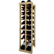 Individual Bottle Wine Rack - 2 Column W/Lower Display, 3 ft high - Mahogany, Pine