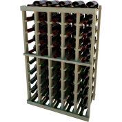 Individual Bottle Wine Rack - 5 Columns, 3 ft high - Mahogany, Pine