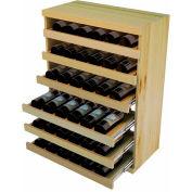 Bulk Storage, Pull Out Wine Bottle Cradle, 6-Drawer 3 Ft high - Mahogany, Pine