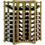 Individual Bottle Wine Rack - Curved Corner W/Top Display, 3 ft high - Walnut, Pine