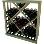 Diamond Bin Wine Rack - 3 ft high - Walnut, Pine