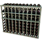Individual Bottle Wine Rack - 10 Column W/Top Display, 3 ft high - Light, Pine