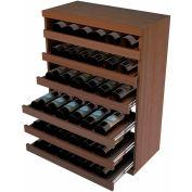 Bulk Storage, Pull Out Wine Bottle Cradle, 6-Drawer 3 Ft high - Walnut, Mahogany