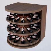 Bulk Storage, Rotating Wine Bottle Cradle, 3-Level 3 Ft high - Walnut, Mahogany