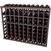 Individual Bottle Wine Rack - 10 Column W/Top Display, 3 ft high - Black, Mahogany