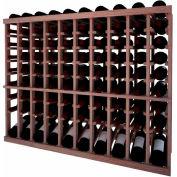 Individual Bottle Wine Rack - 10 Column W/Lower Display, 3 ft high - Black, Mahogany